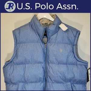 🐎U.S. Polo Assn. Puffer Vest Jacket Blue XL-NEW